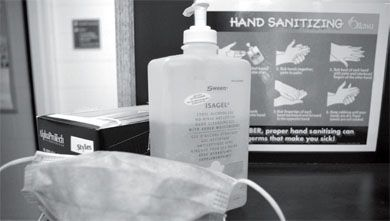 Hand sanitizer is one way to prevent flu infection.