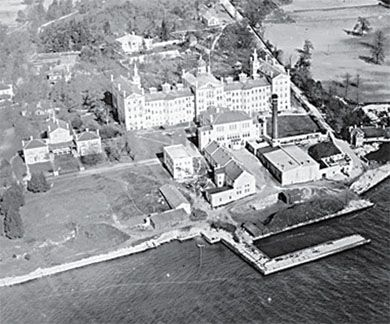 An aerial shot of the Rockwood Insane Asylum, circa 1920. The building has been empty since closing in 2000.