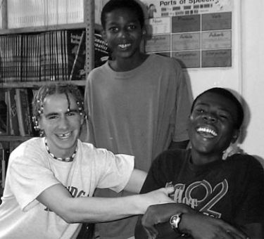 Greg Hulse, left, volunteered at an orphanage in Jamaica in 2004.