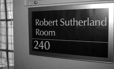 The JDUC's Robert Sutherland Room (pictured) honours the University's first black graduate.