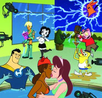 Drawn Together exposes the more risqué side of cartoon characters.