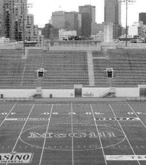 McGill's stadium sits empty after football season cancellation.