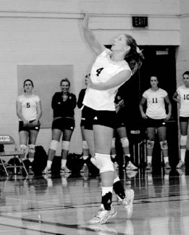 Amanda Digel serves up the ball against Ottawa.