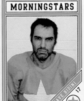Dave Bidini's rec hockey card.