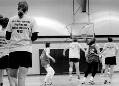 Competing teams were about more than cute slogans during BEWIC Sports Days.
