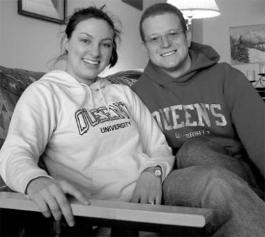 Students Andrea and Jonathan Shapero married in August and now live together off campus.