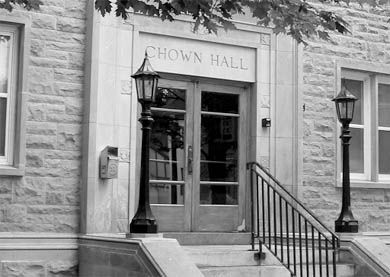 Chown Hall is one of the residences under jurisdiction of the MCRC.