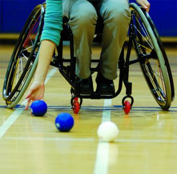 Bocce ball was a featured event at Ready, Willing and Able.