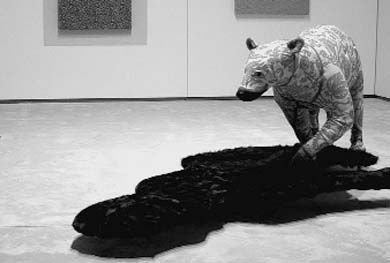 When confronted by an upholstered bear, act like a shadow.