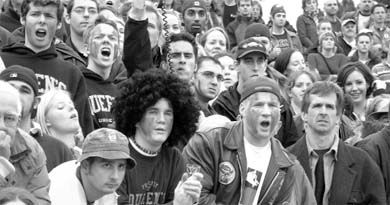 Fans, like these at the 2002 Yates Cup, might be able to enjoy an alcoholic beverage at all home football games in the future.