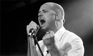 """Tragically Hip's front-man, Gord Downie, belts it out to thousands of fans who attended """"Across the Causeway"""" on Sunday."""
