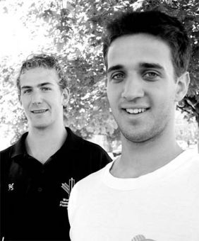 Morgan Jarvis (left) and Simon Gowdy brought home two bronze medals from the World Under-23 Rowing Championships.