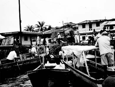 Boats like these are the only way to travel between towns in many areas of Nicaragua. Jennifer used them to travel from San Carlos to her placement.