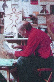 The late Al Hansen in his studio.