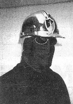 The faceless 'Mario Baker,' as he appeared in his editorial in Golden Stolen Words.