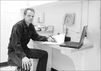 Dr. Hugh Langley says recent renovations have made the clinic a more appealing place to work.