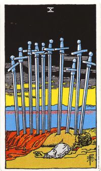 X of Swords: When this harsh looking card was drawn, Crockett called it one of the most challenging cards in the deck. However, she said my challenges had passed and this card, like the world card, signaled a new phase.