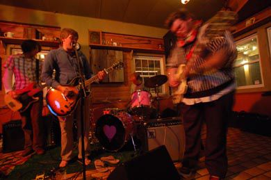 Nich Worby opened for the Superfantastics and Blue Heeler Sunday night at the Island Grill on Wolfe Island.