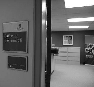 Principal Hitchcock's term ends in June, and she is currently being reviewed for reappointment.
