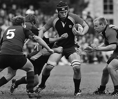 The rugby team, seen here in the Oct. 13 Homecoming match against Western, went to Argentina over Reading Week.