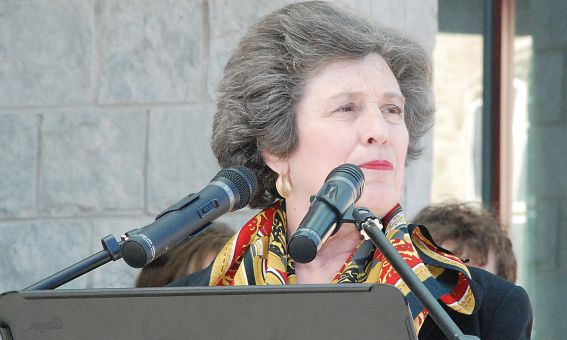 Principal Karen Hitchcock, shown here in an April 2007 vigil for victims of the Virginia Polytechnic Institute and State University shooting, announced she's withdrawing her reappointment request in an e-mail yesterday morning.
