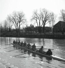 The Queen's rowing team won six of eight races against McGill on April 27.