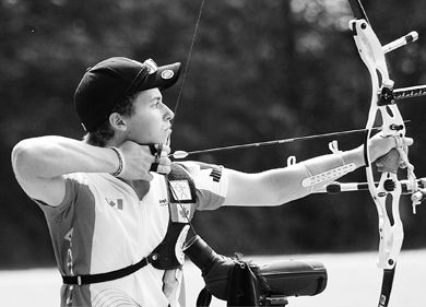 J.D. Burnes, at 20 years old, will be the youngest member of the Canadian Olympic Archery Team