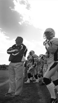 Pat Sheahan looks on as the Golden Gaels went head-to-head against the Laurier Golden Hawks on Sept 29, 2007.