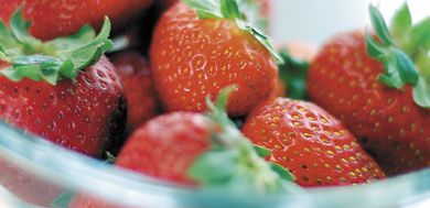 Romance in residence can be as simple as a microwave, strawberries and some chocolate chips.