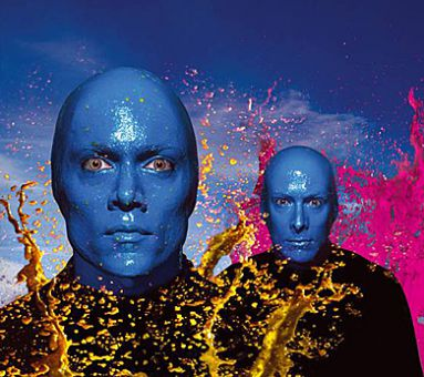 The Blue Man Group will perform tomorrow night at the K-Rock Centre.
