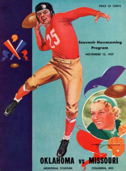 A program from homecoming at the University of Missouri (MU) in 1937. MU has one of the oldest homecoming celebrations in the United States.