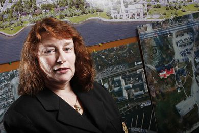Vice-Principal (Facilities) Ann Browne says moving the arena will integrate west campus with main campus.