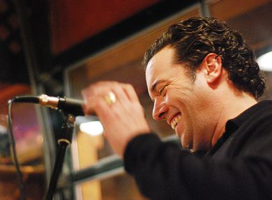 2008 Giller Prize winner Joseph Boyden performs at the Sleepless Goat Friday.