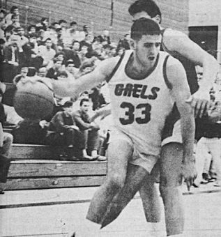 Mark Alessio (33) drives towards the Carleton basket on January 26, 1988. Alessio was killed in Madagascar Monday.