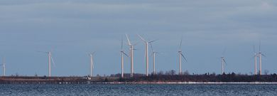 The Wolfe Island Wind Project park, a $475 million project, will have 86 turbines when it's complete in June. The park is designed to power about 75,000 homes.