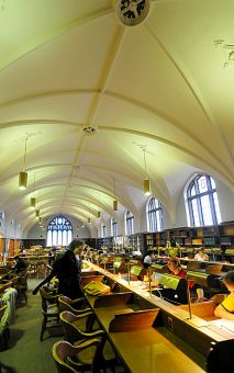 The hushed grandeur of the Douglas reading room inspires.