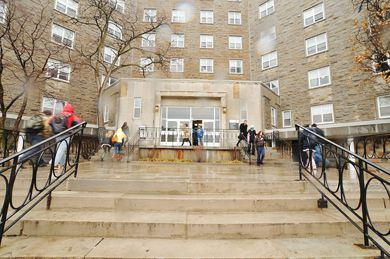 "According to a Queen's Campus Security alert, a male ""piggy-backed"" into Victoria Hall on Friday morning, entered an unlocked residence room and assaulted a female student."