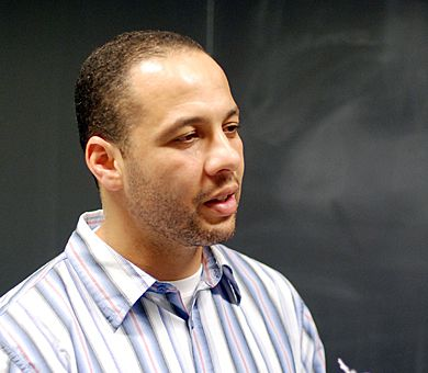 Moroccan-born Montrealer Adil Charkaoui spoke in Dunning Hall on June 16.