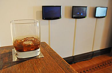 A strong glass of spirits accompanies the digitized world of Michael Davidge.