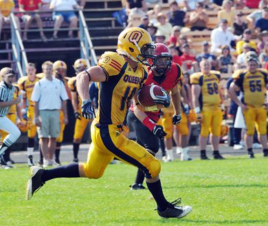 Gaels kick returner Jimmy Allin tallies up more return yards on the way to capping 439 yards against Guelph on Monday.