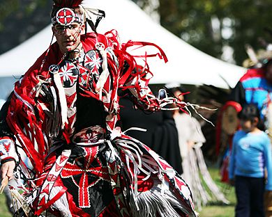A participant at last year's educational powwow.