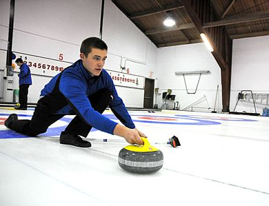 The men's curling team ended fourth in the province last year.