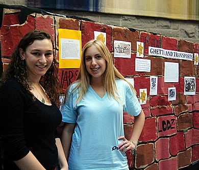 Queen's Hillel members Madyln Axelrod and Samantha Dunnigan organized this year's Holocaust Education Week.