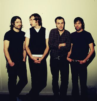 Malajube's third album Labyrinthes was shortlisted for the 2009 Polaris Prize. From left to right: Mathieu Cournoyer, Francis Mineau, Julien Mineau and Thomas Augustin.