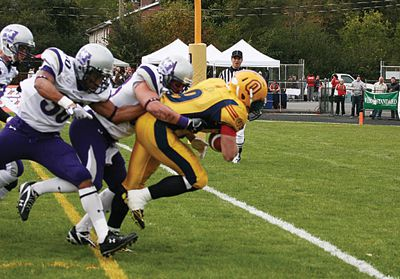 Gaels running back scores a touchdown against Western on Oct. 17.