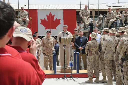 Prime Minister Harper says Canada will end its military mission in Afghanistan in Dec. 2011.