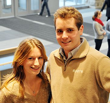 Robyn Laing, ArtSci '11, and Doug Johnson, ArtSci '12, are running for