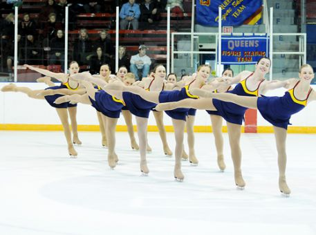 The synchronized figure skating team competes at the Toronto/Ryerson Winter Invitational last weekend. Skater Jena Hall said they must improve in order to pick up medals at the provincial championships on Feb. 17 and 18 in Waterloo.