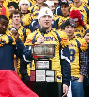 Gaels quarterback Danny Brannagan started for five years at Queen's, racking up over 10,000 CIS career passing yards.