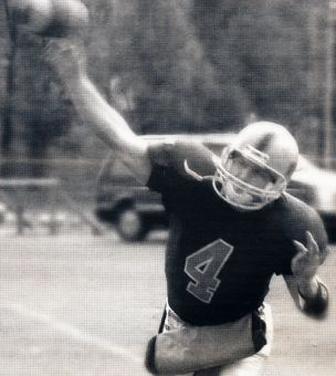 Tom Denison was the last Queen's quarterback to play CFL football with the Winnipeg Blue Bombers and Calgary Stampeders, after being passed over by Toronto and Hamilton.